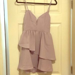 Lavender cocktail dress size medium by Tobi